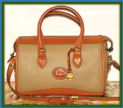 Biscotti Shortbread Vintage Dooney Satchel Shoulder Bag