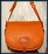 Limited Leather Bound Russet Saddle Bag Vintage Dooney Shoulder Bag