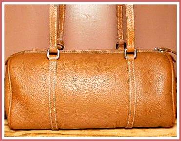 Western Saddle Tan Barrel Satchel Dooney Bourke Bag
