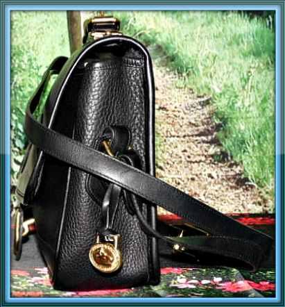 Striking Black Beauty Large Carrier Shoulder Bag