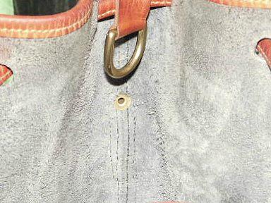 Navy Blue Large Drawstring Shoulder Bag