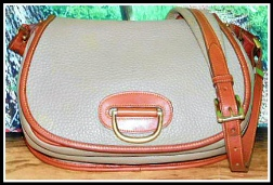 Wholesome Earthy Dark Taupe Horseshoe Bag
