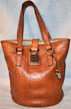 Ostrich Bucket Bag Dooney Bourke