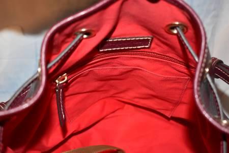 Dooney and Bourke Polyvinyl-coated Leather   Saffiano Kendall Drawstring Bucket Shoulder Bag
