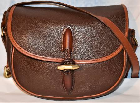 Luscious Chocolate Souffle Dooney Loden Saddle Bag