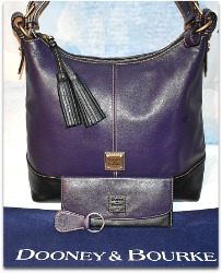 Boysenberry Aubergine & Black Hobo Shoulder Bag Set of 4