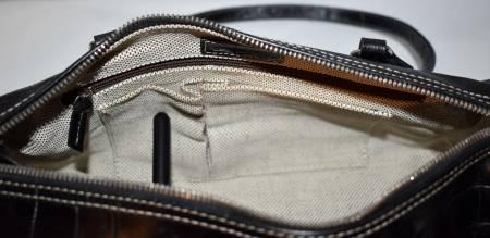 Dooney and Bourke  Alligator  Embossed Leather  Satchel Barrel Bag  Nile Collection