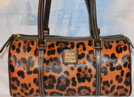 Leopard Safari Barrel Bag by Dooney Bourke