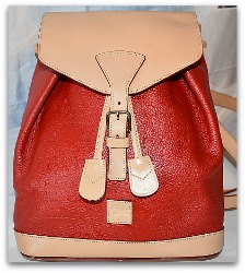 Candy Apple Red All Weather Leather Dooney Backpack