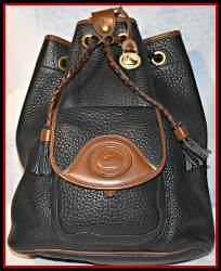 Roomy Black Vintage Dooney Sling Bag