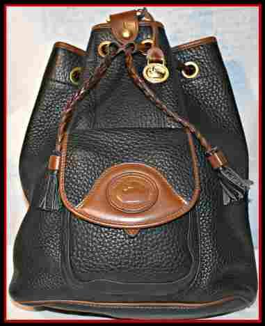 Roomy Black Vintage Dooney Sling Bag