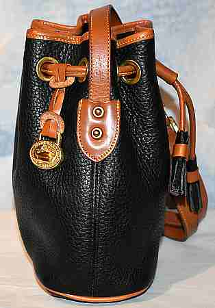 Vintage Dooney & Bourke  All-Weather Leather  Mini Drawstring Shoulder-CrossBody Bag