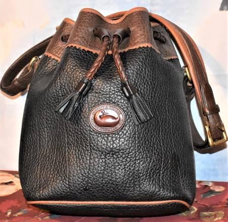 Cinnamon Brown & Licorice Dooney Drawstring Bag