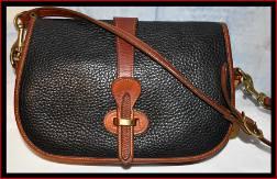 Giddy-Up Black Equestrian Over & Under Dooney Bag