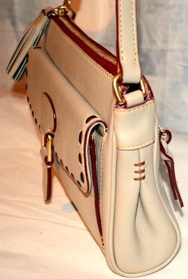 Dooney and Bourke  Florentine  Leather Tassel Short Shoulder Bag