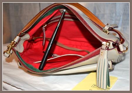 Macaroon Hazelwood Clutch Dooney Bourke Tassel Handbag