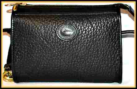 Elegant Black Diamond Mini Zip-Top Vintage Dooney Bag