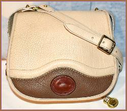 Extraordinary Almond Hazelnut Dooney Teton Saddle Bag