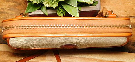 Delicious Creamy Coconut Vintage Dooney Zip Along Wallet