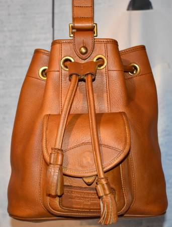 Cinnamon Toast Tan Dooney Nubuck Sling Bag