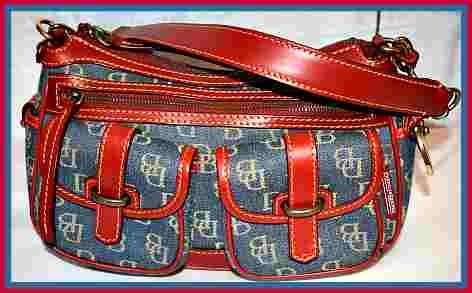 Western Denim Blue Dooney Signature Saddle Bag