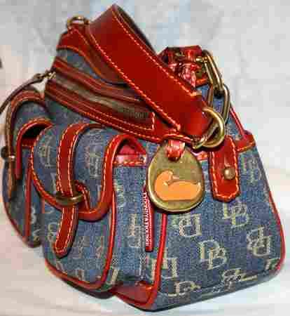 Blue Dooney Signature Saddle Bag