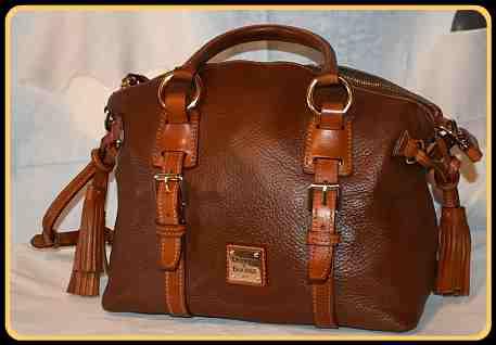 Savory Nutmeg Cookie Dooney AWL Domed Satchel & Shoulder Bag