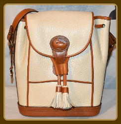 Daisy Cream Vintage Dooney Dover Drawstring Bag