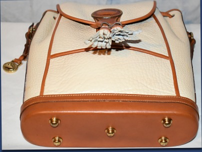 Vintage Dooney and Bourke  All-Weather Leather® Collection  R08 Dover Drawstring Case  Shoulder/Crossbody Bag