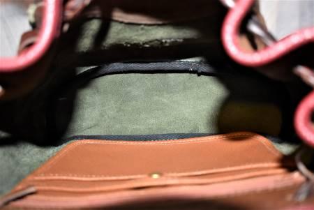 Vintage Dooney & Bourke  All-Weather Leather  #H302 Teton Drawstring Saddle Bag Purse  Excellent Condition!  Teton Collection