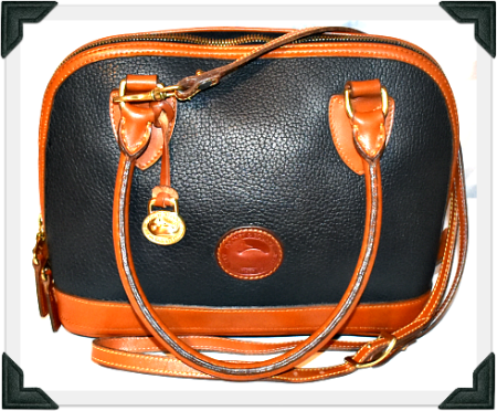 Juicy Mulberry Blue Dooney and Bourke  All Weather Leather Domed Satchel