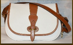 Saddle up! Vintage Dooney White Tack Bag