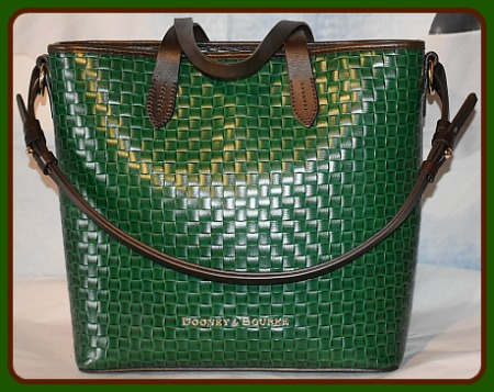 Beguiling Shamrock Green Dooney Shoulder-Satchel Bag Set