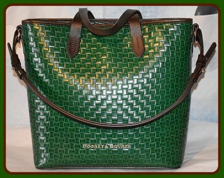 Beguiling Shamrock Green Dooney Shoulder-Satchel Bag Set