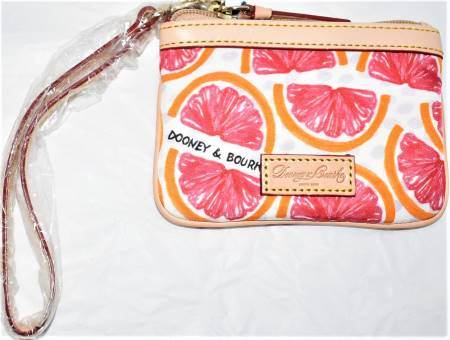 NEW! Mouth Watering Grapefruit Wristlet-Coin Purse by Dooney
