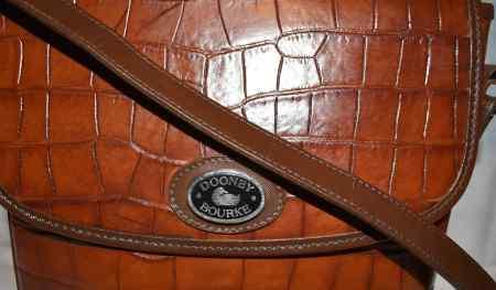 Dooney and Bourke Leather Bayou Flap Bag