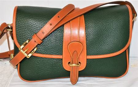 Fresh Forest Green Dooney Equestrian Shoulder Bag