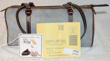 Dooney and Bourke  Signature Collection  Shadow DB Fabric Barrel Bag