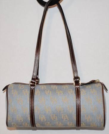 Delightful Denim Blue Dooney Barrel Bag