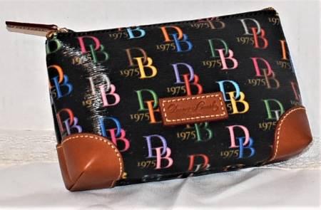 Dooney & Bourke  Sparkle Signature Anniversary  Cosmetic Case/Coin Purse