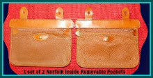 Vintage Dooney Norfolk Bag Inside Pocket Set