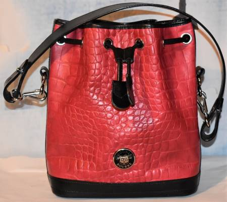 Cherry Berry Jam Dooney Drawstring Shoulder Bag