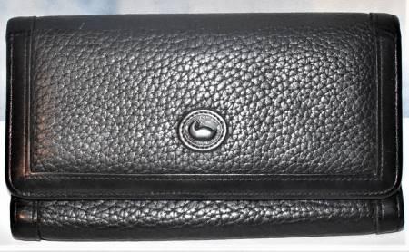 Zippy Black Licorice Dooney Clutch Wallet