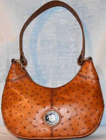 Dooney and Bourke  Ostrich Embossed Leather  Hobo Bag