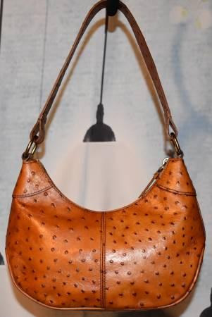 Ostrich Dooney Hobo Bag