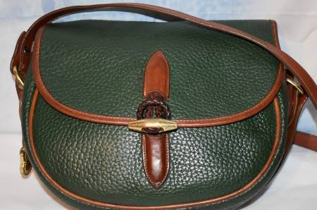 Morning Glory Moss Green Dooney Loden Saddle Bag