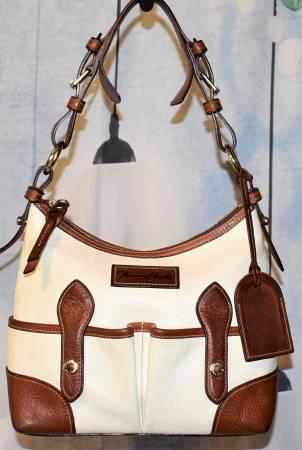 Genuine Florentine Vacchetta Leather  Double Pocket Shoulder Bag
