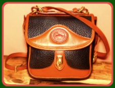 Sharp Black Licorice Whip Vintage Dooney Carrier Bag