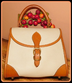 Frosted Creme Brulee Vintage Dooney Carpet Bag