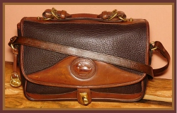 Decadent Double Chocolate Large Vintage Dooney Carrier Shoulder Bag